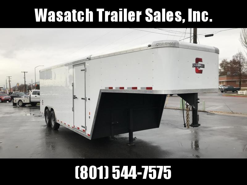 2019 Charmac Trailers 20ft Gooseneck Enclosed Cargo Trailer