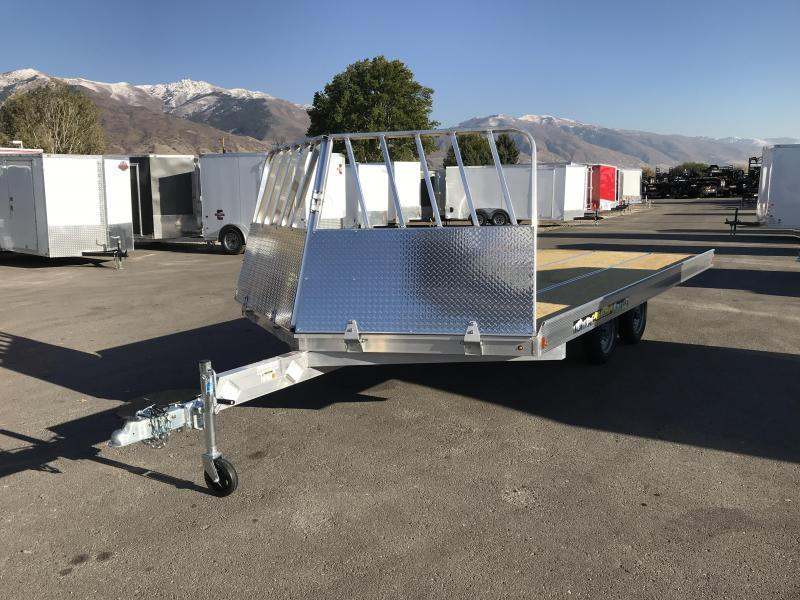 2018 Aluma 8614 Drive On/Off Snowmobile Trailer