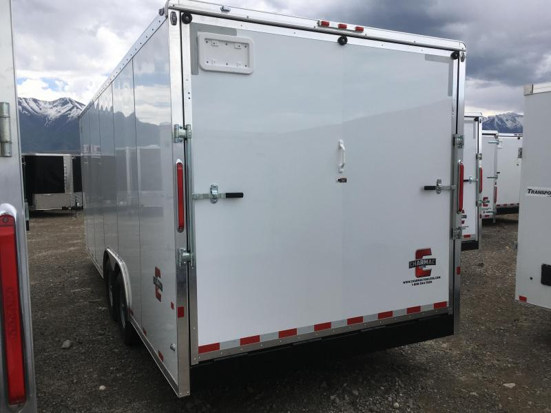 100x22 White Charmac Commercial Duty Cargo Trailer with 7k Axles