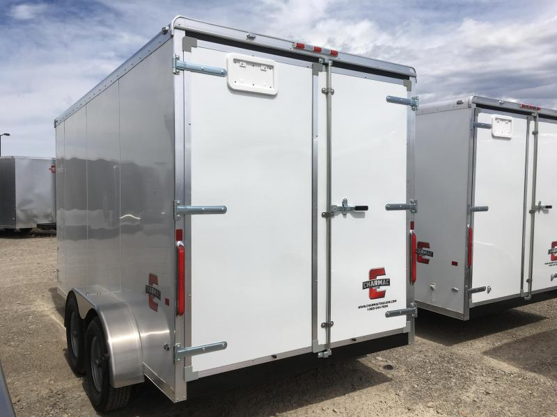 7x14 White Charmac Standard Duty Cargo Trailer