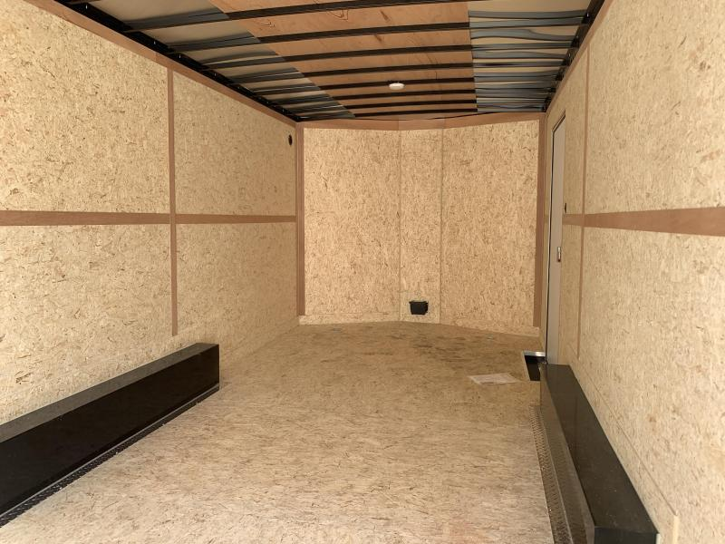 Haulmark 8.5x16 White Transport Cargo with Ramp