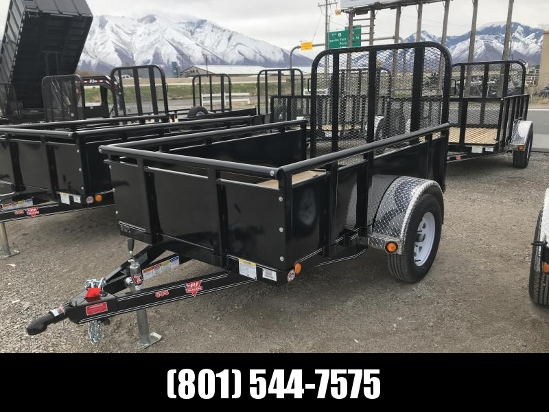 PJ 8ft - 60 in. Single Axle Channel Utility (U6) Utility Trailer