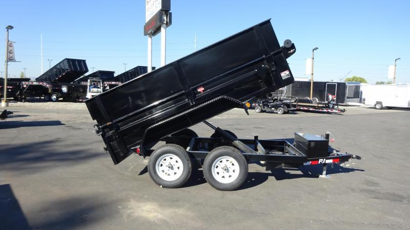"2019 PJ Trailers 5x10 Dump Trailer with 18"" Extensions"