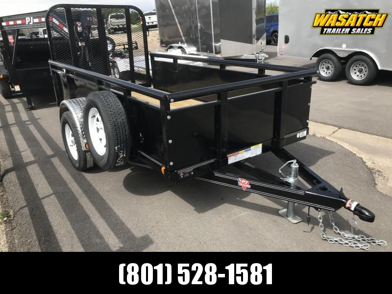 "PJ Trailers 60'' Single Axle Channel (U6) Utility w/ 24"" Solid Sides"
