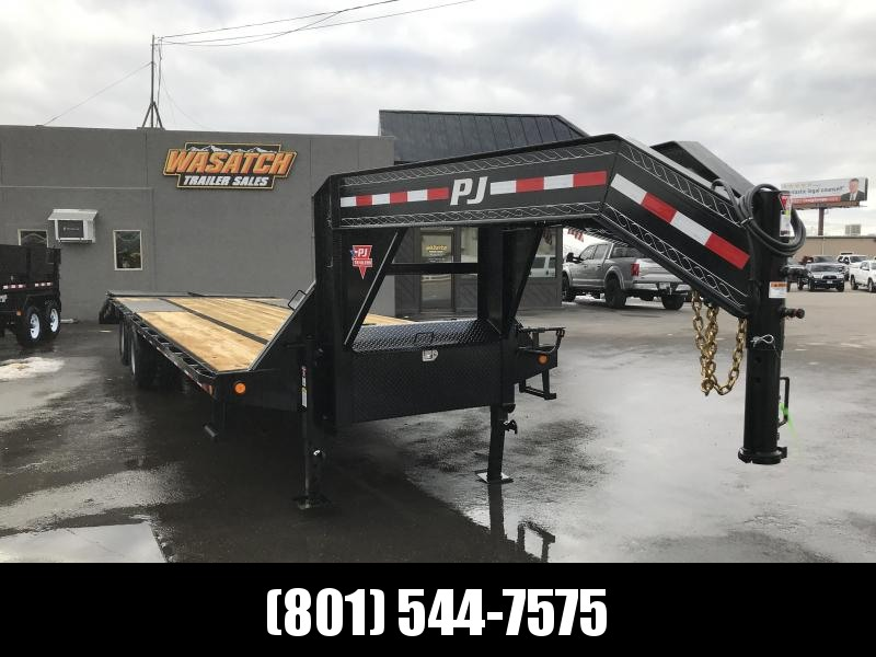 2019 PJ Trailers 28ft Low-Pro Gooseneck Flatdeck with Duals (LD) Flatbed Trailer