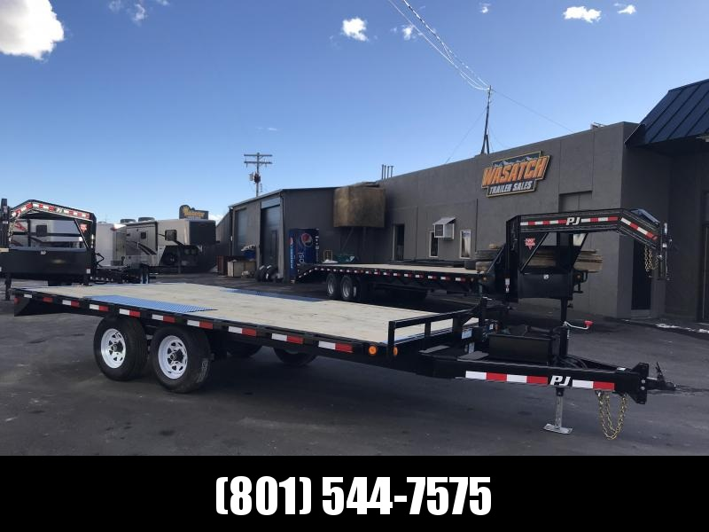 2019 PJ Trailers 20ft - Medium Duty Deckover 6 in. Channel (L6) Flatbed Trailer in UT
