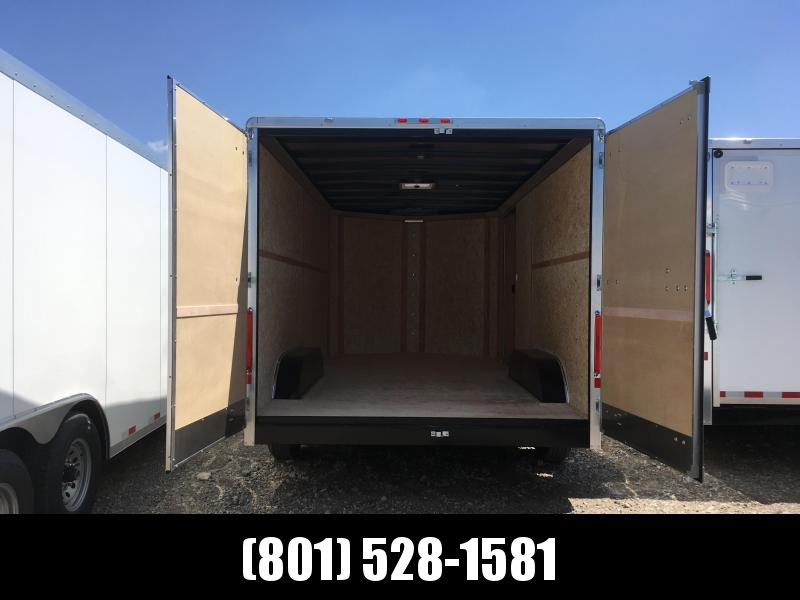 Charmac 100x18 White Commercial Duty Cargo with Barn Doors