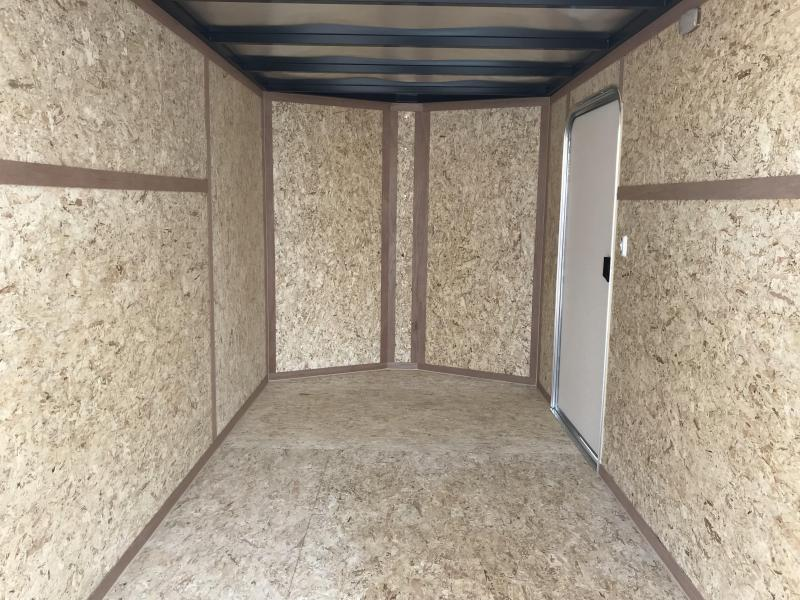 Charmac 6x12 White Stealth Cargo with Barn Doors
