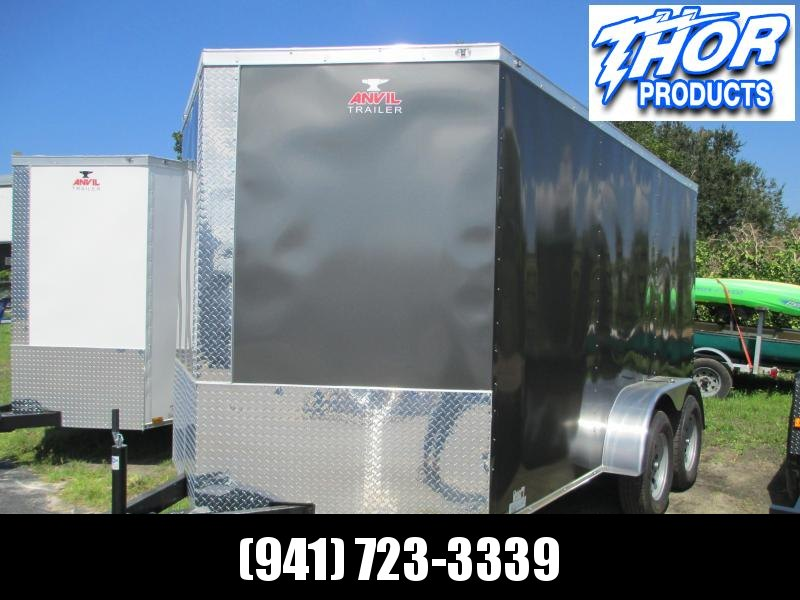 NEW 7X12 TA Enclosed Trailer Ramp .030 Charcoal Color