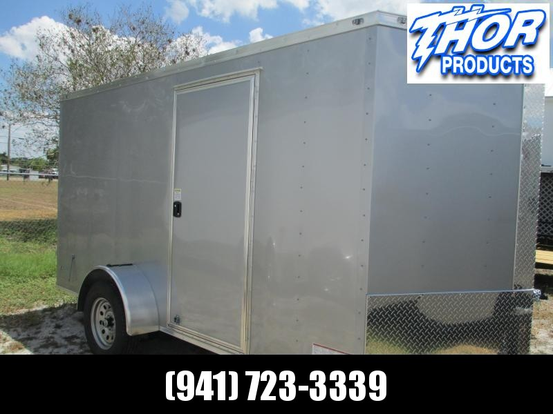 NEW 6 x 10 SA Trailer w/Double Rear doors side door RADIALS - SILVER