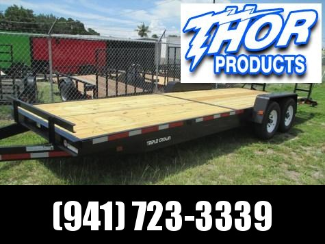 Triple Crown 7 x 24 Equipment Trailer 14K w/Ramps