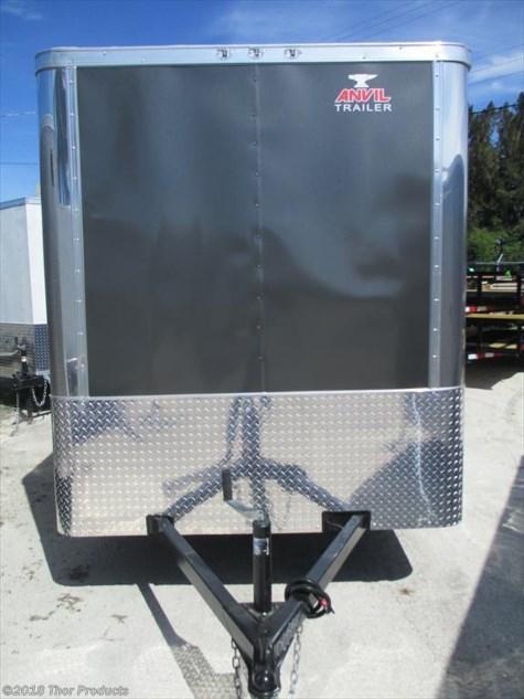NEW 6 x 10 SA Enclosed Trailer Charcoal Grey w/Ramp & side door RADIALS