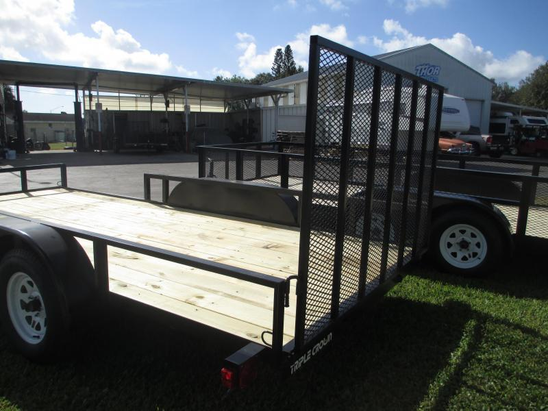 NEW 7X16 ATV TRAILER 2 axles w/1 brake Side and Rear Ramps
