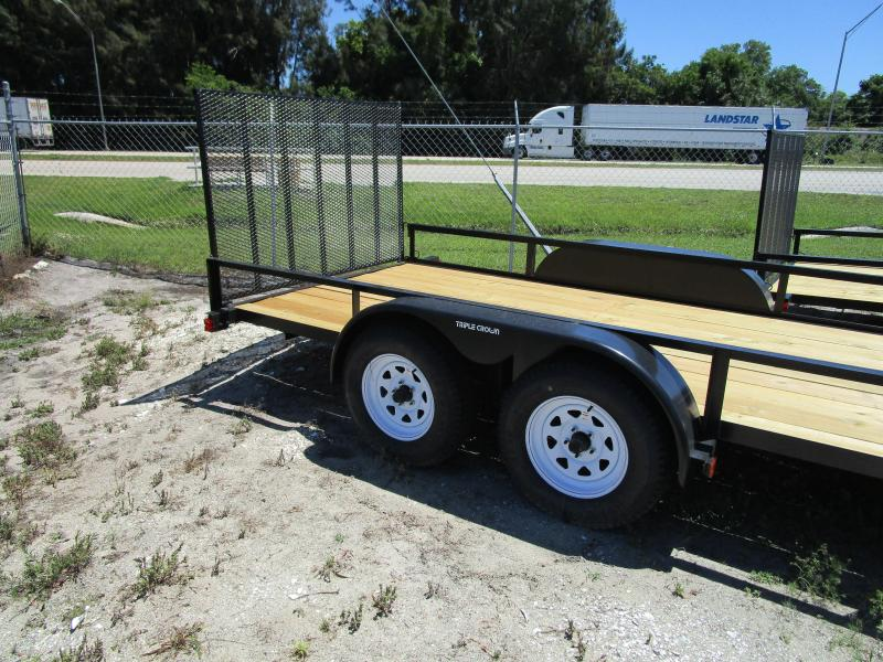 "NEW 6'4"" X 16 TA Utility Trailer w/1 axle brake and Ramp"
