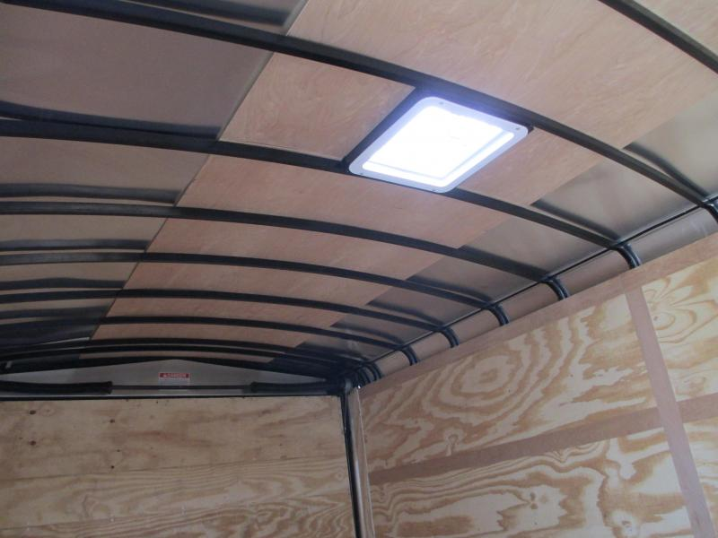 "2019 Pace 8.5x16 TA Car / Landscape Trailer 12"" extended tongue Ramp 1 Piece Aluminum Roof"