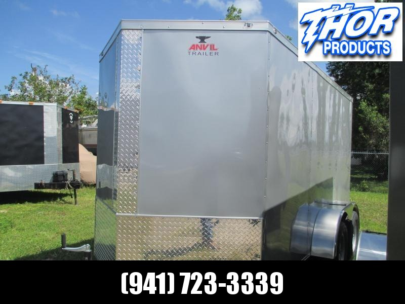 NEW 6x12 TA Enclosed Trailer Silver w/Radial Tires Brakes Ramp