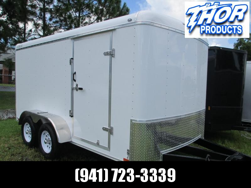 NEW 7x14 TA Commercial Duty Enclosed Trailer RAMP Side Door