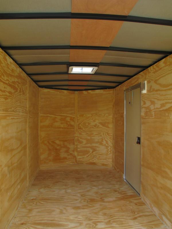 NEW 6 x 12 SA Trailer w/Double Rear Doors & side door SILVER