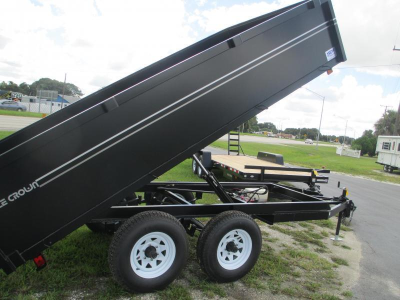 6x12 TA Dump Trailer - Haul 8140# Remote Swing Door