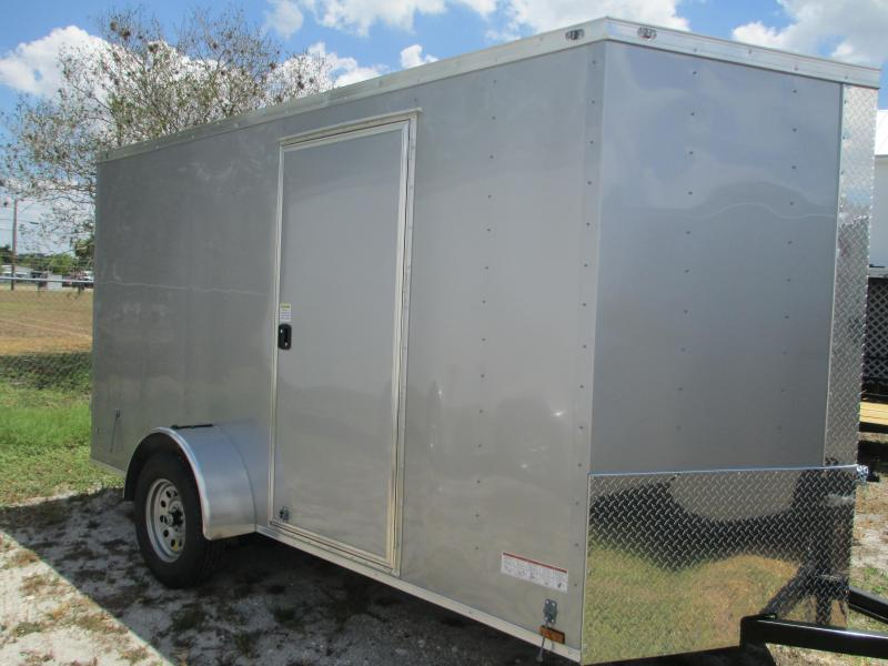 6 x 12 SA Trailer w/Ramp door side door RADIALS