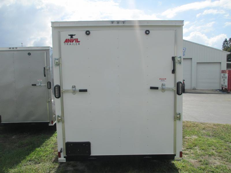 NEW 6 x 10 SA Trailer w/Ramp door side door RADIALS - WHITE