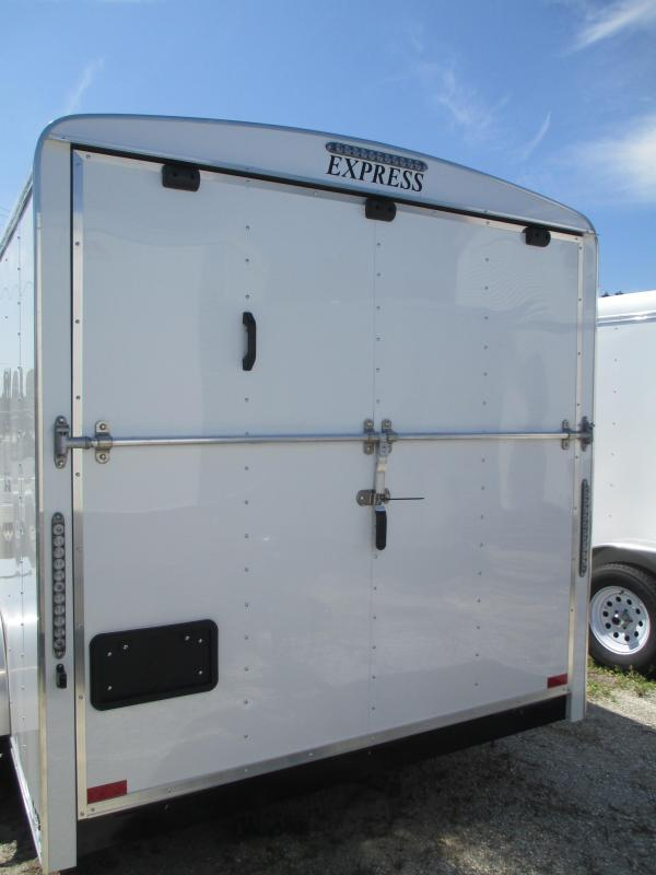 7x14 TA Commercial Trailer w/E-track on Walls & shelf in front RAMP