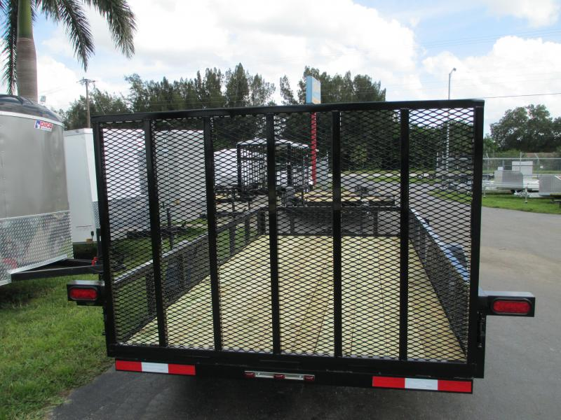 "NEW 6'4"" x 14 SA Utility Trailer 2"" Tube Top Ramp 14"" Mesh Sides"