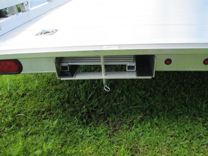"""NEW 6'6"""" x 16' TA Aluminum Utility Trailer w/pull out ramps"""