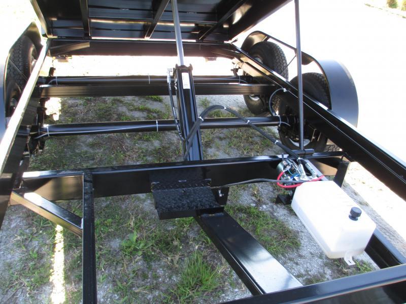 "NEW 6X12 Lowrider 10K Dump Trailer w/Tarp kit and 2 5/16"" Adjustable Coupler"