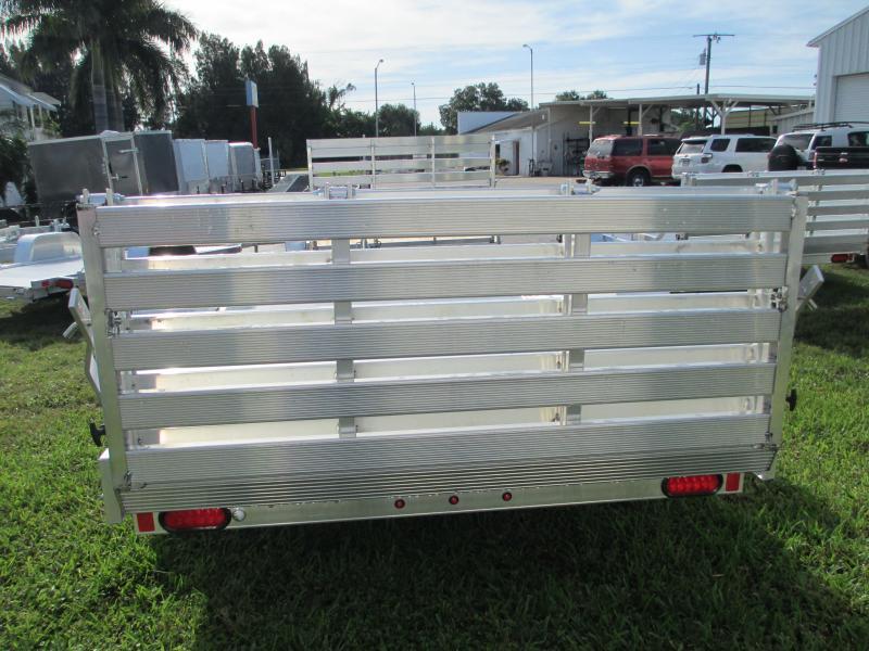 """NEW Aluminum 5'8"""" x 12' S/A Utility Trailer w/Bi-fold Gate"""