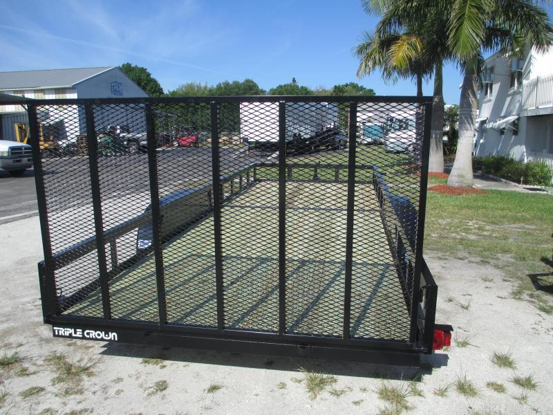 NEW 7X20 H/D UTILITY TRAILER T/A 2 axle Brakes w/Ramp