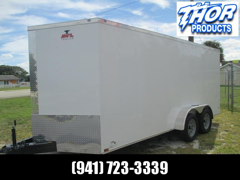 NEW 7 x 16 TA Trailer 6FT 6in ht DOUBLE REAR DOORS White