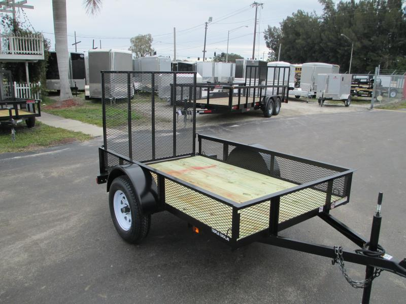 "Triple Crown 5 x 10 SA Utility Trailer w/ramp AND 15"" mesh sides"