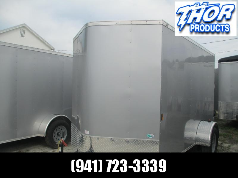 NEW 6X10 SA Trailer w/Ramp Door .030 Silver Aluminum