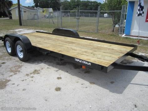 Triple Crown 7 x 18 Car Hauler Trailer w/Ramps and removable DS fender
