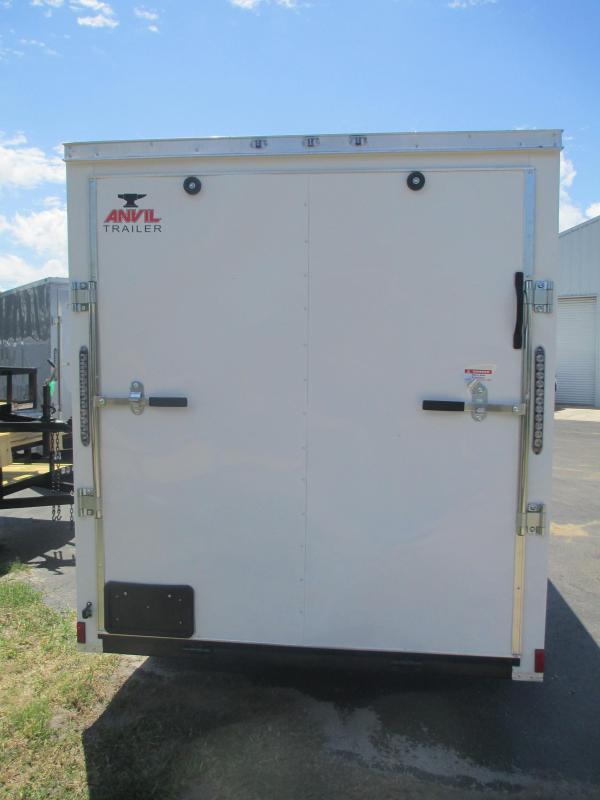 NEW 6 x 12 SA Trailer w/Ramp door side door RADIALS - WHITE