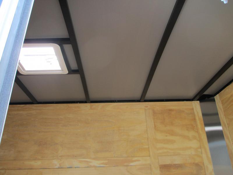 NEW 6 x 12 SA Trailer w/Ramp door side door RADIALS - PEWTER