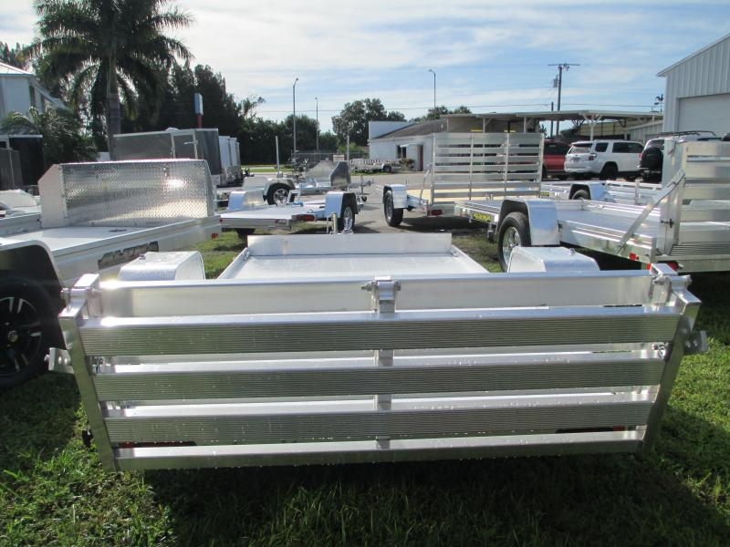 """Aluminum 5'3"""" x 10' S/A Utility Trailer w/Bi-fold Ramp upgrade"""