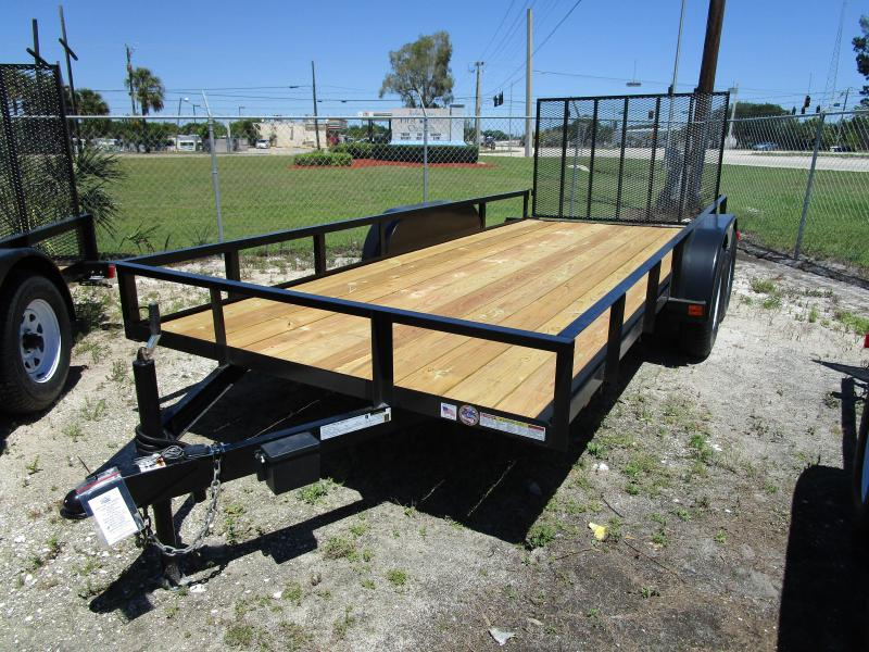 6'4 x 16 TA Utility Trailer with Ramp