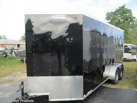 "Pace 7 x 16 TA Trailer V-nose BLACK 6"" extra height Radial Tires Ramp"