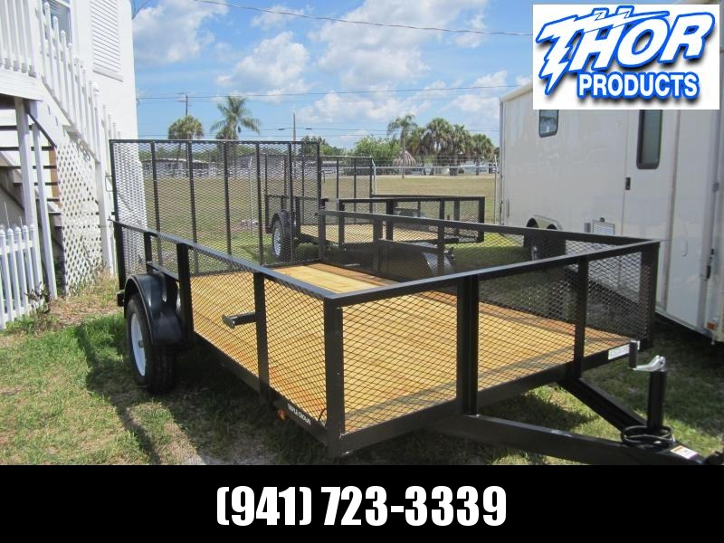 "NEW 6'4"" x 12 Utility Trailer w/2' Mesh Sides and Ramp"