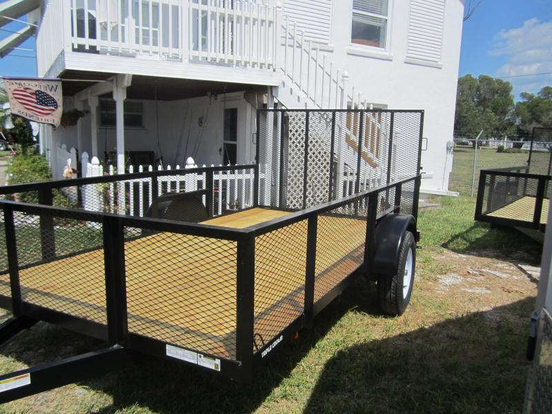 """NEW 6'4"""" x 12 Utility Trailer w/2' Mesh Sides and Ramp"""