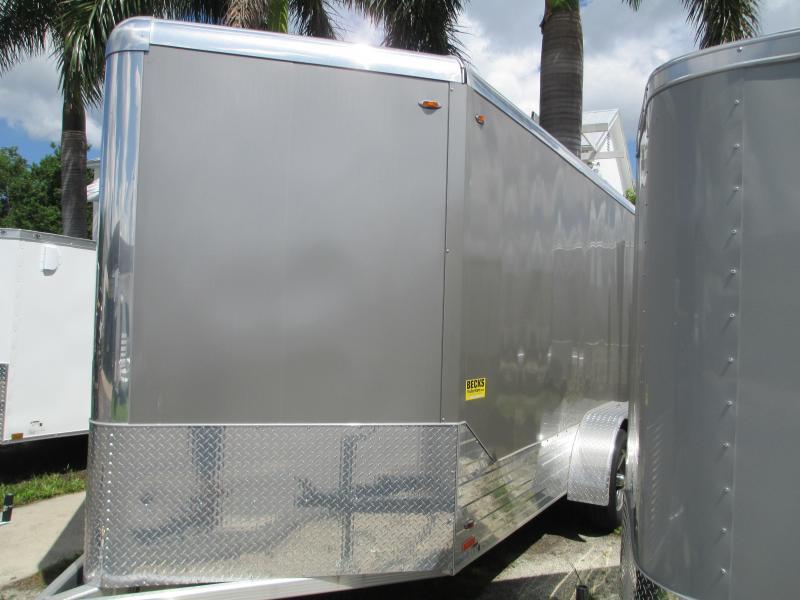 Like NEW 2018 7x17' LEGEND ALL Aluminum Enclosed Trailer w/ramp
