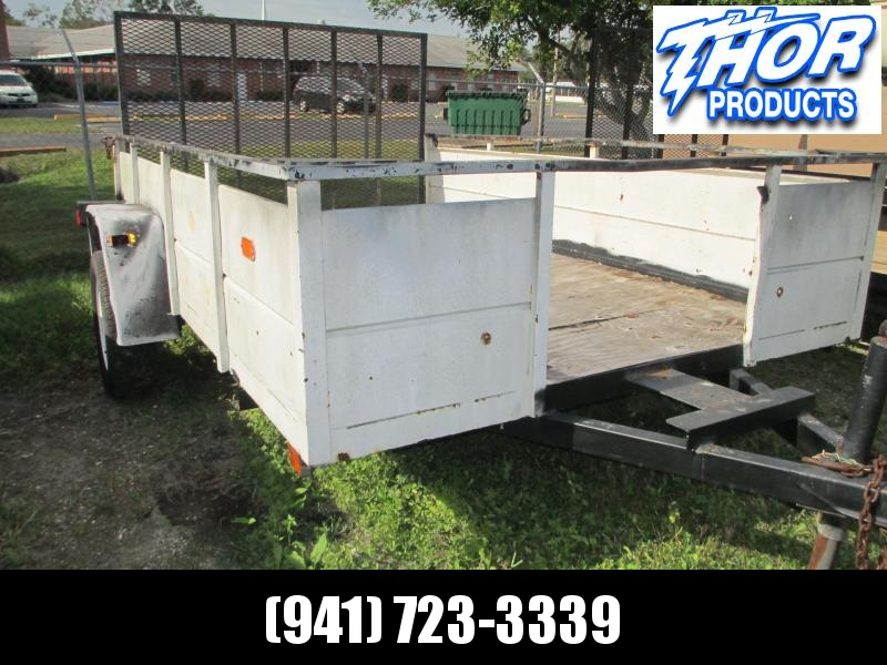 USED 6X10 Single Axle Trailer W/Ramp