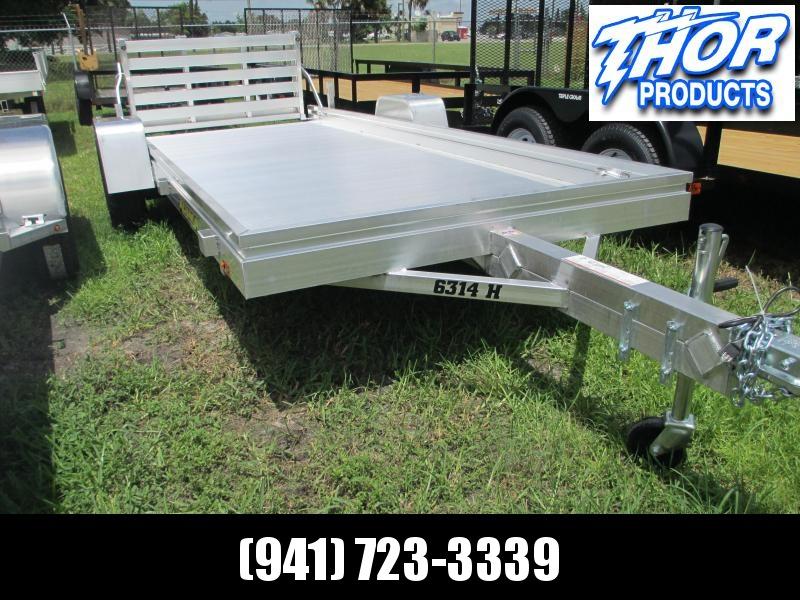"NEW 5'3"" x 14' S/A Aluminum Utility Trailer w/Bi-fold Ramp"