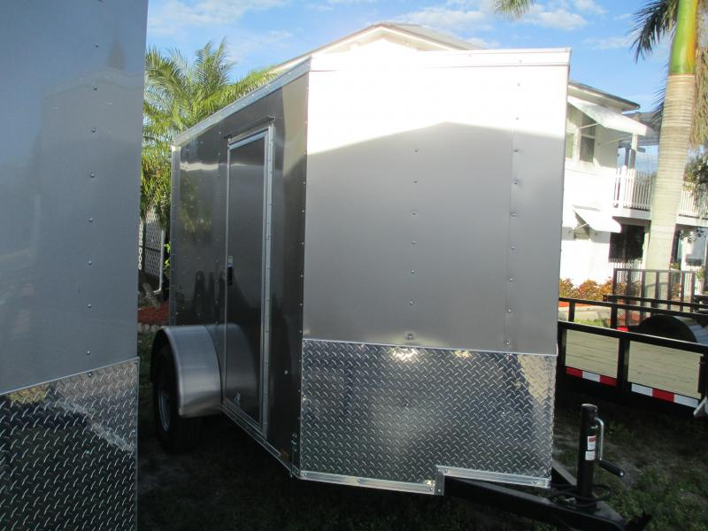 Pace American 5 x 8 SA Enclosed Trailer w/side door and Ramp Champagne