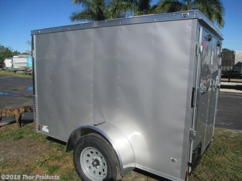 NEW 5 x 10 SA Enclosed Trailer SILVER W/SIDE DOOR AND RAMP RADIAL TIRES