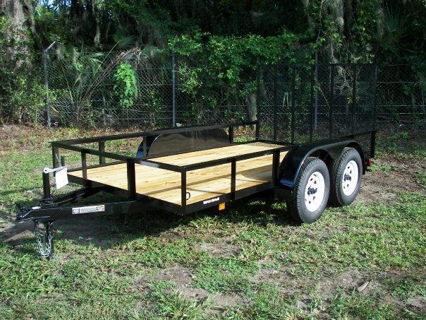 "NEW 6'4"" X 12' TA Utility Trailer w/1 axle brake and ramp"