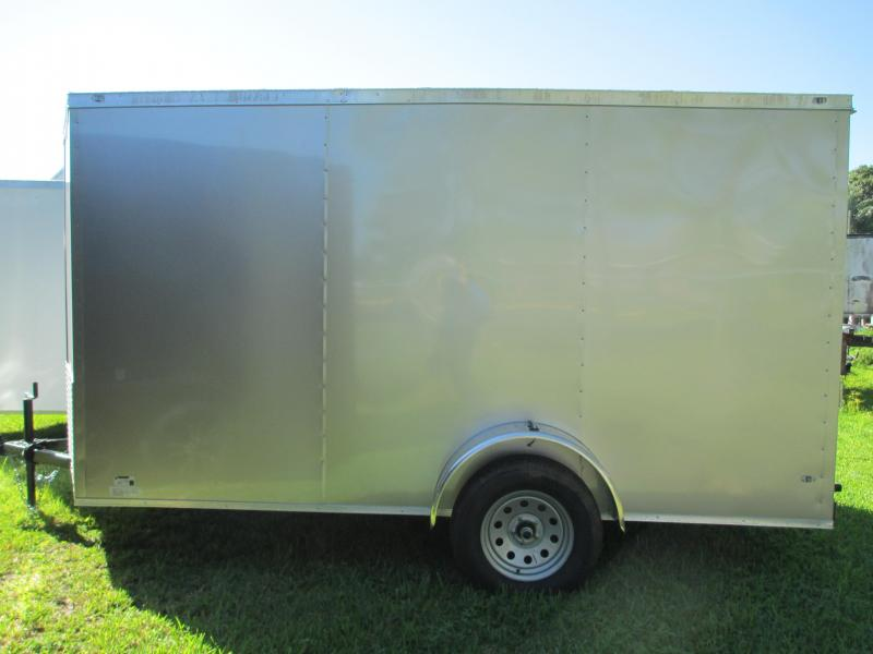 NEW 6 x 12 SA Trailer w/Ramp door side door RADIALS - CHAMPAGNE
