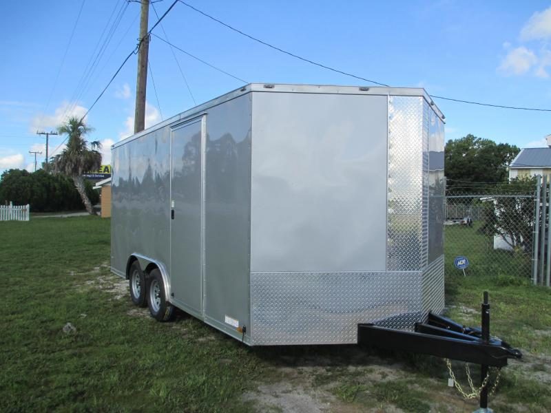 NEW 8.5 X 16 TA Enclosed Trailer w/Ramp Radial Tires